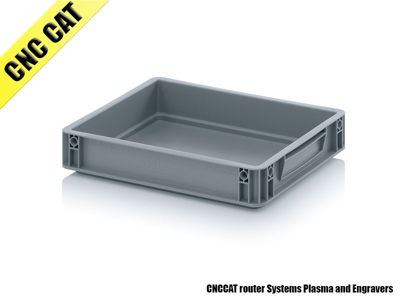 Container 400x300x75mm Closed Handles