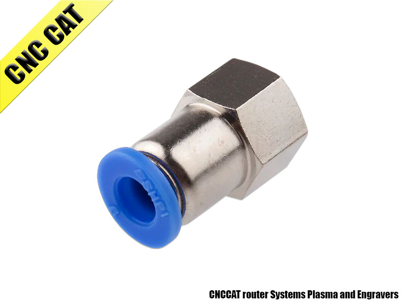 Straight Female Thread Fitting Pneumatic Connector 6mm-1/8