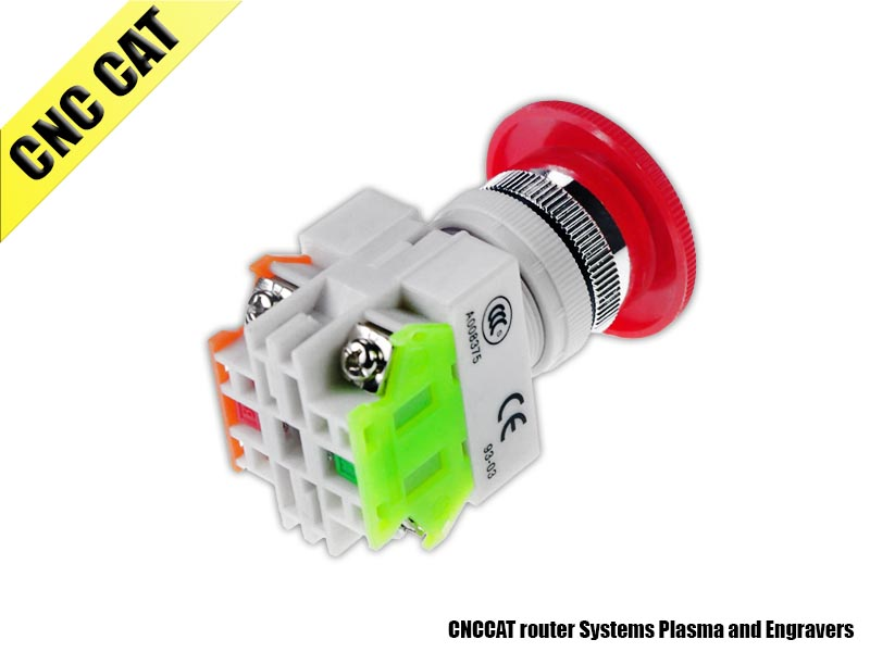 Emergency Stop Pushbutton Switch NO+NC 10A 600V