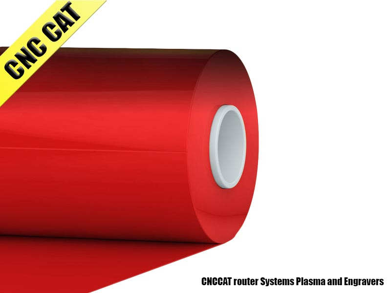 Adhesive Vinyl 610mm x 100mm Red