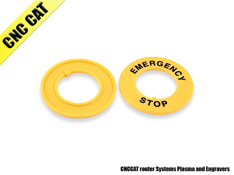 Yellow Emergency Stop Pattern 22mm Cutout Buttonswitch Protective Case