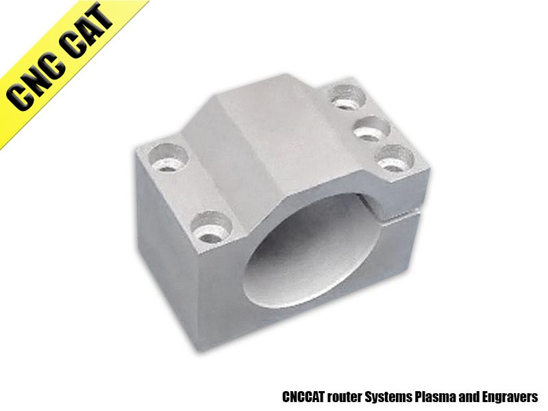 Aluminum Holder for DC Spindle 52mm Diameter